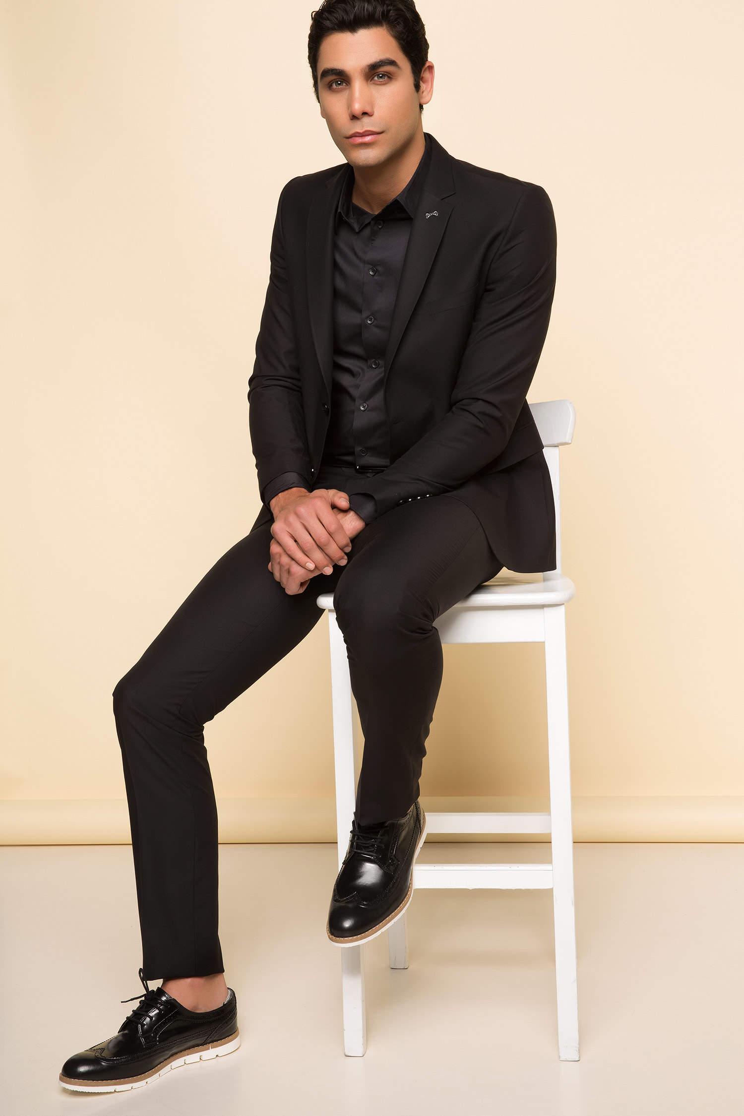 a0fa3353deb2a Siyah Erkek Takım Elbise 751057 | DeFacto