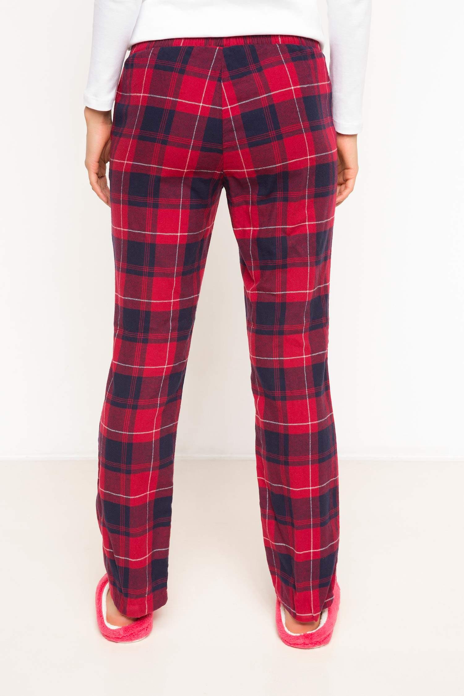 bacbb647cc700 Kırmızı Kadın Kareli Pijama Altı 785865   DeFacto