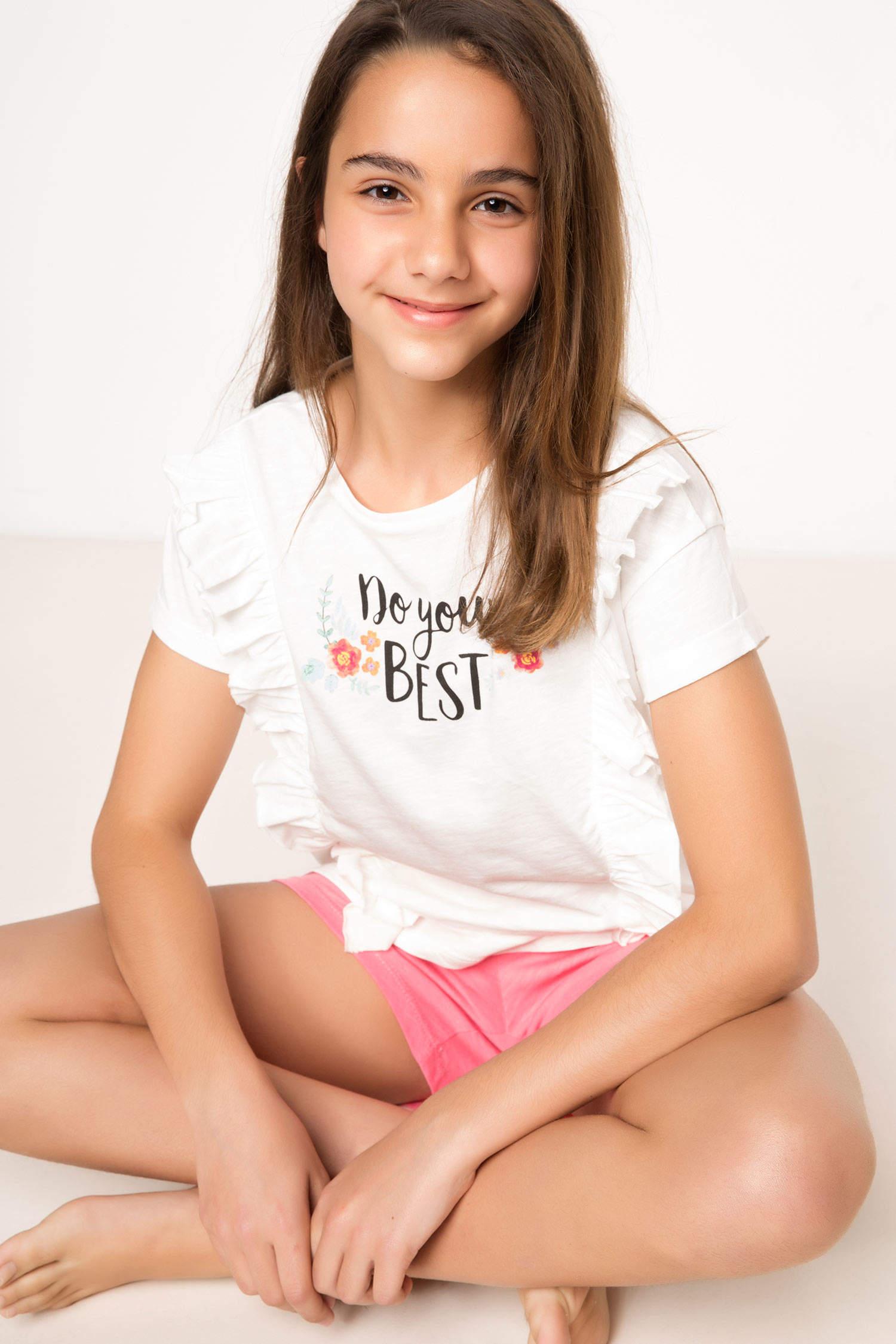 294dd1333ad0c Ekru Kız Çocuk - Genç Kız Genç Kız Alt Üst Takım 758044 | DeFacto