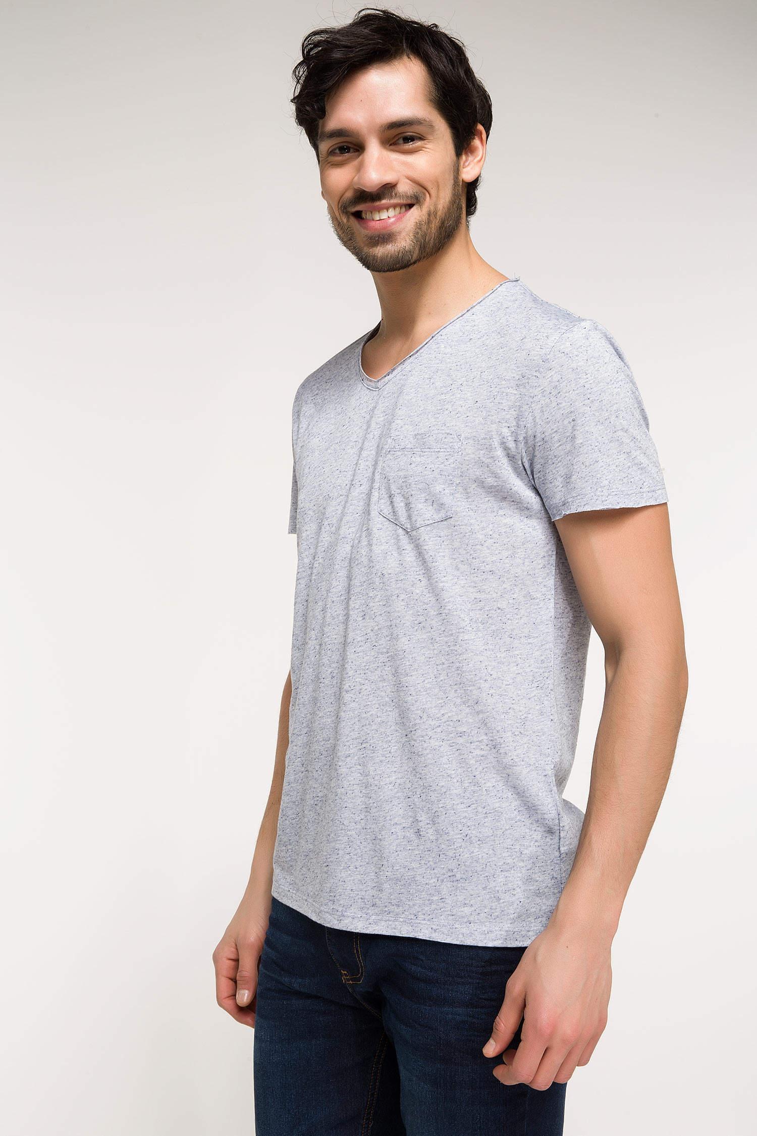 0d78d74719708 Mavi Melanj Erkek Slim Fit V Yaka T-shirt 820852 | DeFacto