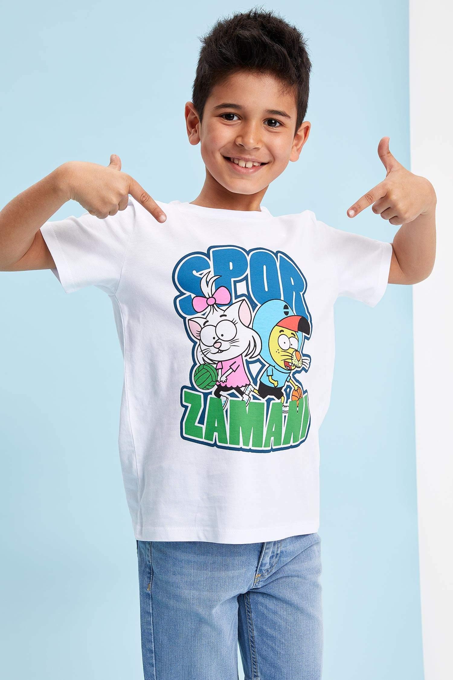 b2640826b6b99 Beyaz Erkek Çocuk - Genç Erkek Kral Şakir Lisanslı Erkek Çocuk T-Shirt  985514 | DeFacto