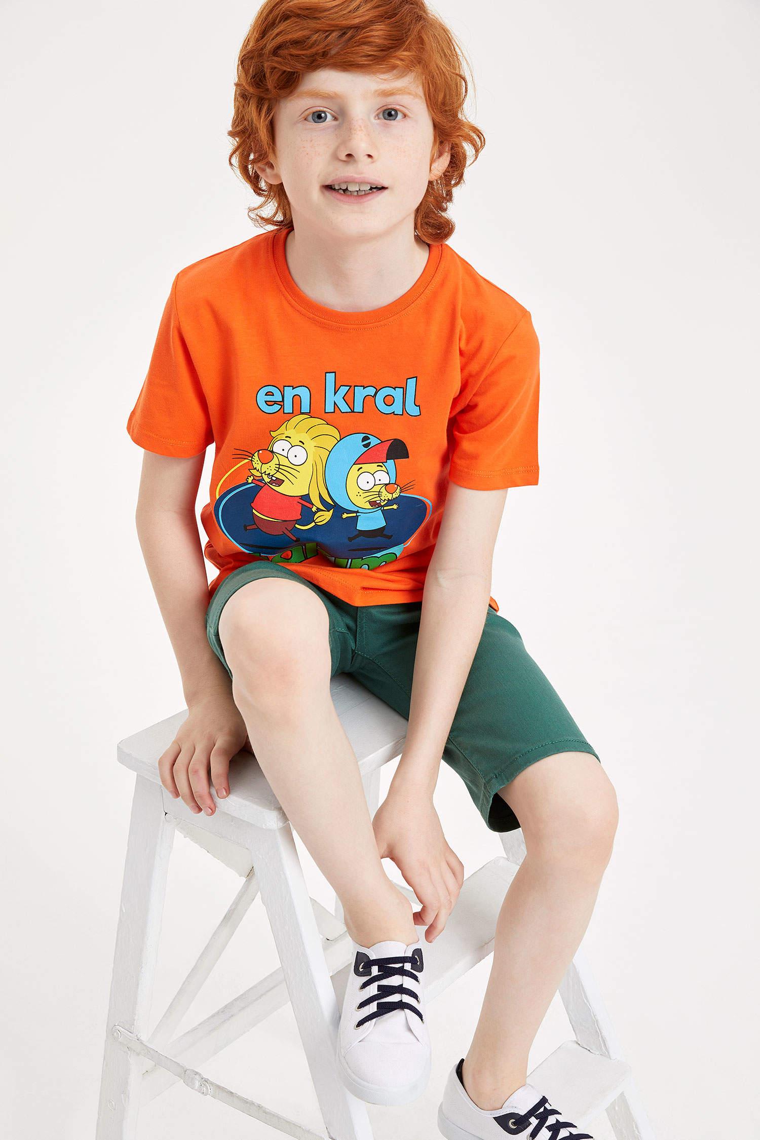 088b318f83824 ORANGE Erkek Çocuk - Genç Erkek Kral Şakir Lisanslı Erkek Çocuk T-Shirt  984366 | DeFacto
