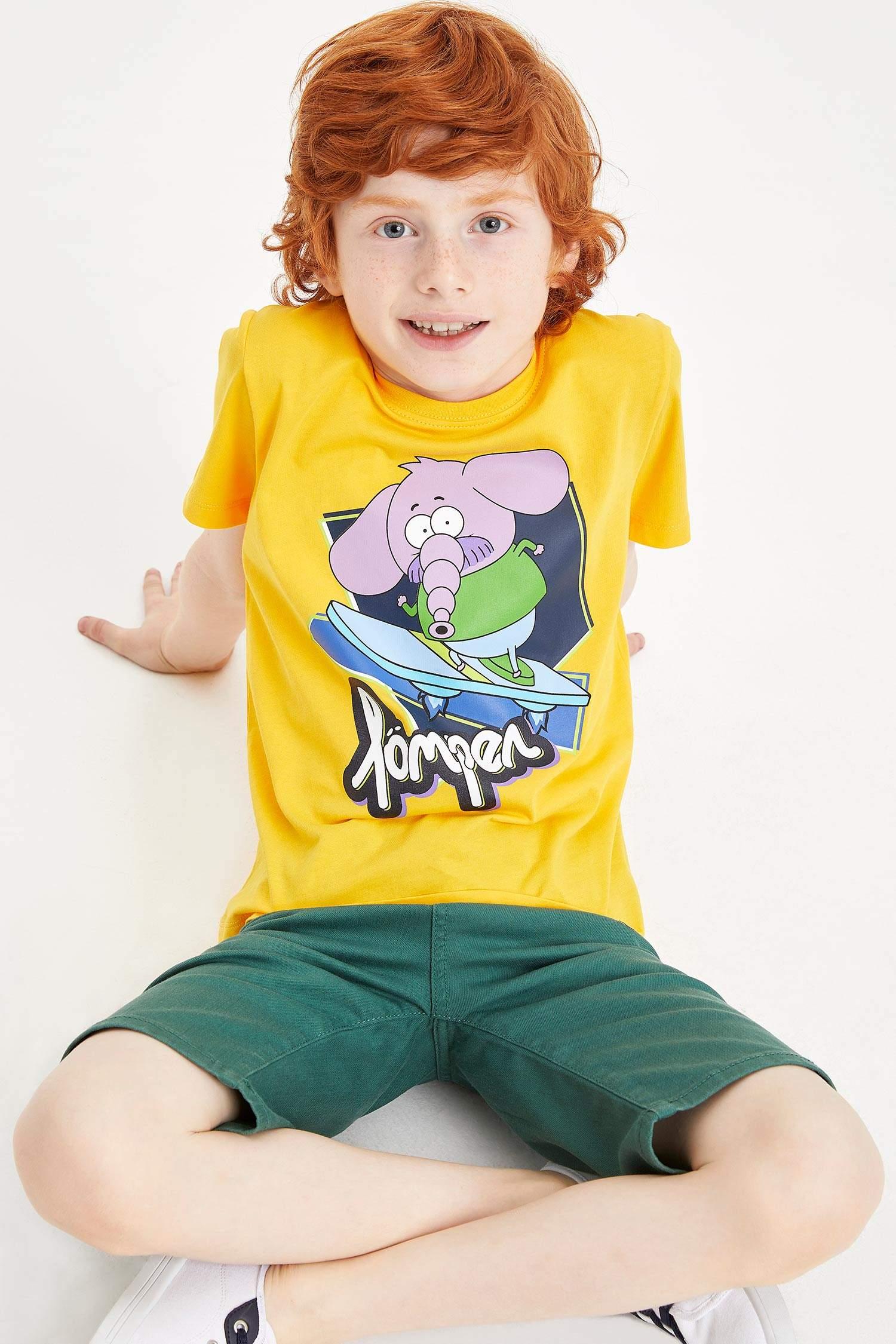f204e048b01e2 Sarı Erkek Çocuk - Genç Erkek Kral Şakir Lisanslı Erkek Çocuk T-shirt  984355   DeFacto