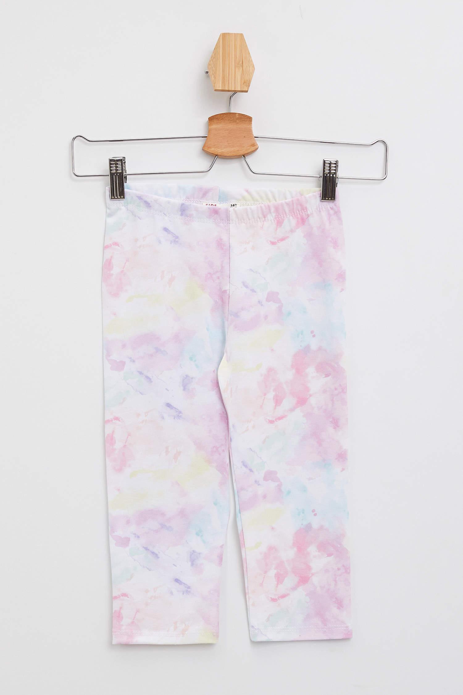 2967640b2a72a Pembe Kız Çocuk - Genç Kız Slim Fit Batik Tayt 1019041 | DeFacto