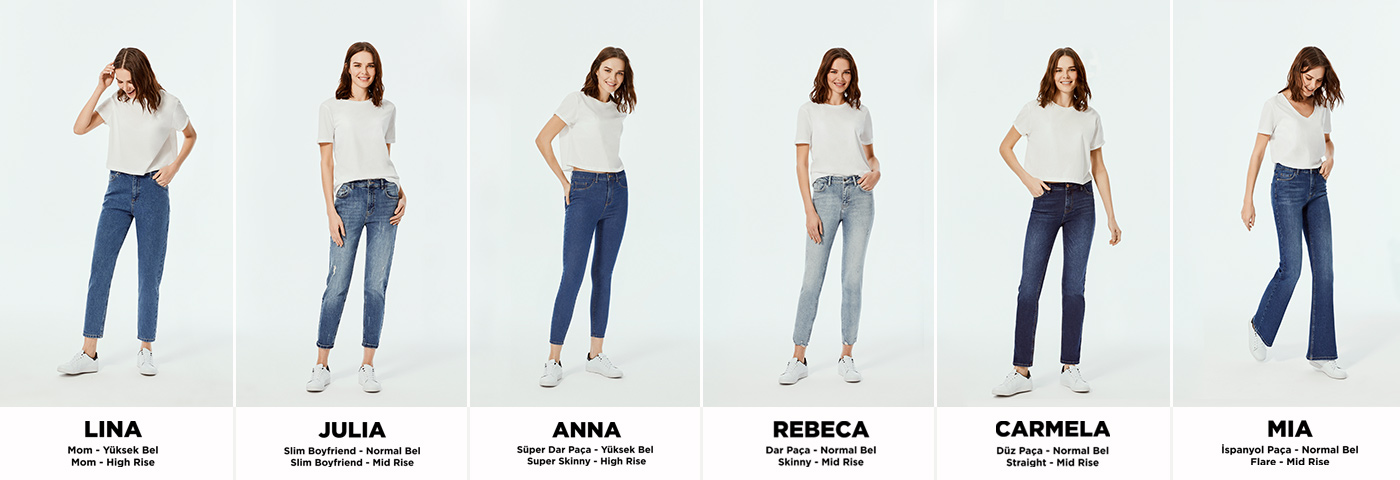 Kadin Kot Giyim Denim Jeans Modelleri Defacto